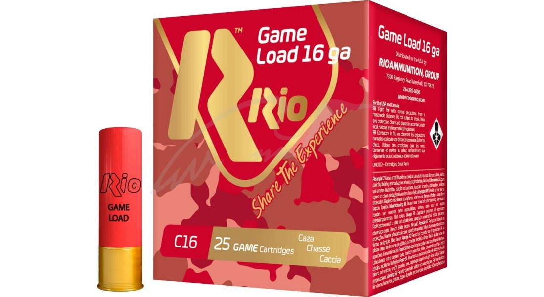 Патрон RIO Load Game C16 NEW (без контейнера) кал. 16/70 дріб №1 (4 мм) наважка 28 г