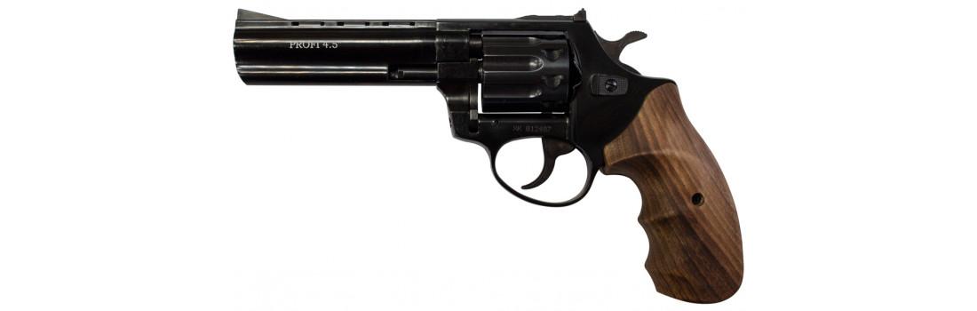 """Револьвер Флобера ZBROIA PROFI-4.5"""" (чёрный / дерево)"""