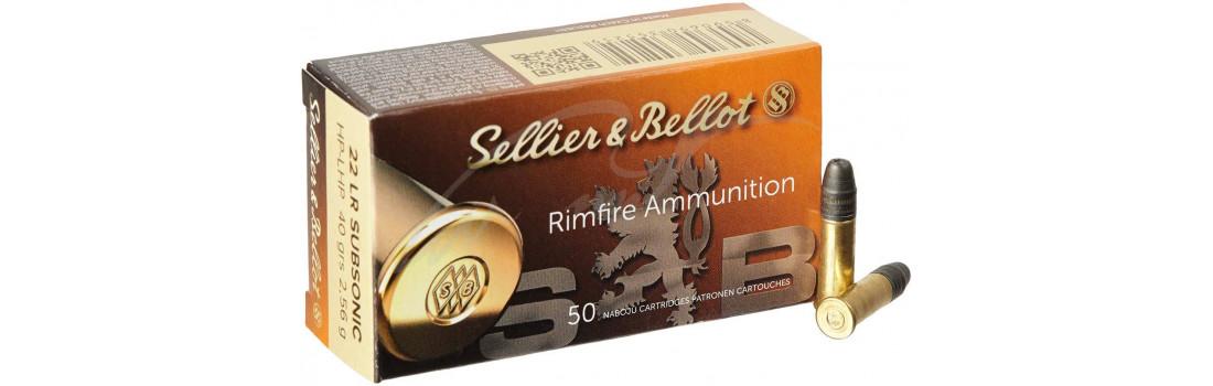 Патрон Sellier & Bellot Subsonic кал. 22 LR куля HP маса 2,56 гр/40 гран. Поч. швидкість 310 м/с.