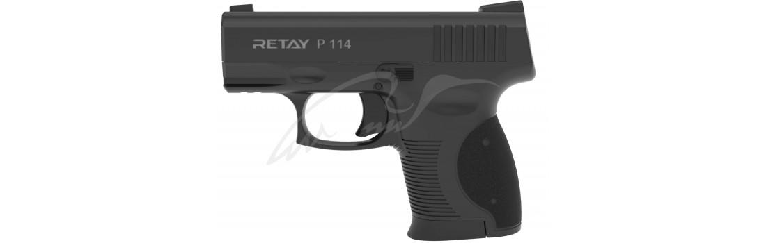 Пистолет стартовый Retay P114 кал. 9 мм. Цвет - black.