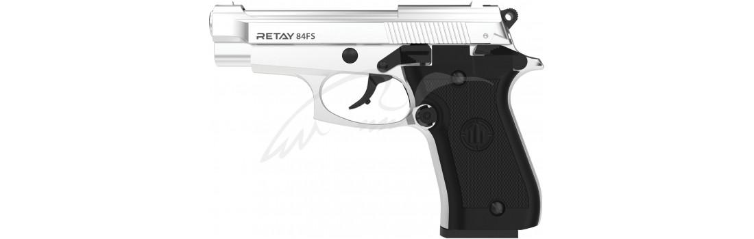 Пістолет стартовий Retay 84FS. Колір - nickel.