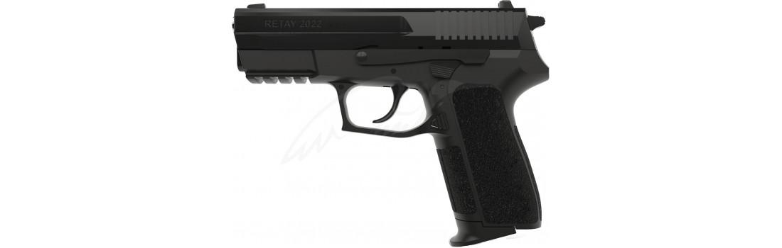 Пистолет стартовый Retay 2022 кал. 9 мм. Цвет - black.