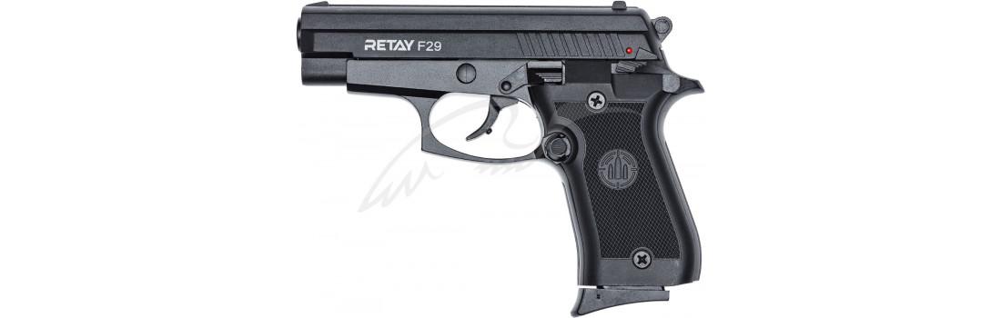 Пістолет стартовий Retay F29 кал. 9 мм. Колір - Black