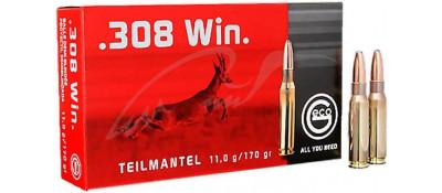Патрон GECO кал.308 Win пуля TM масса 11 г, нач. скорость 805 м/с