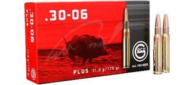 Патрон GECO кал.30-06 пуля Plus масса 11 г, нач. скорость 855 м/с.