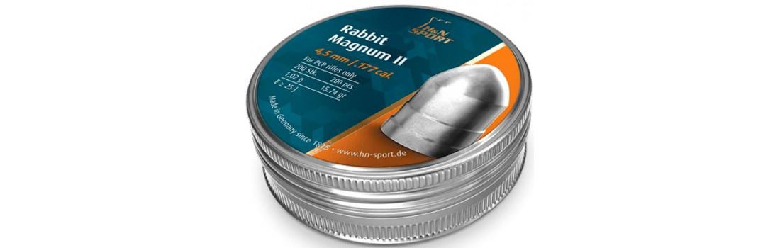 Пули пневматические H&N Rabbit Magnum II. Кал. 4.5 мм. Вес - 1.02 г. 200 шт/уп
