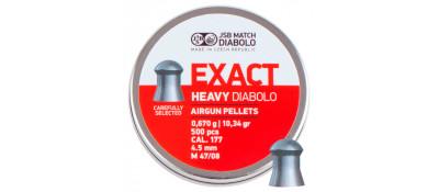 Кулі пневматичні JSB Diabolo Exact Heavy. Кал. 4.52 мм. Вага - 0.67 г. 500 шт/уп
