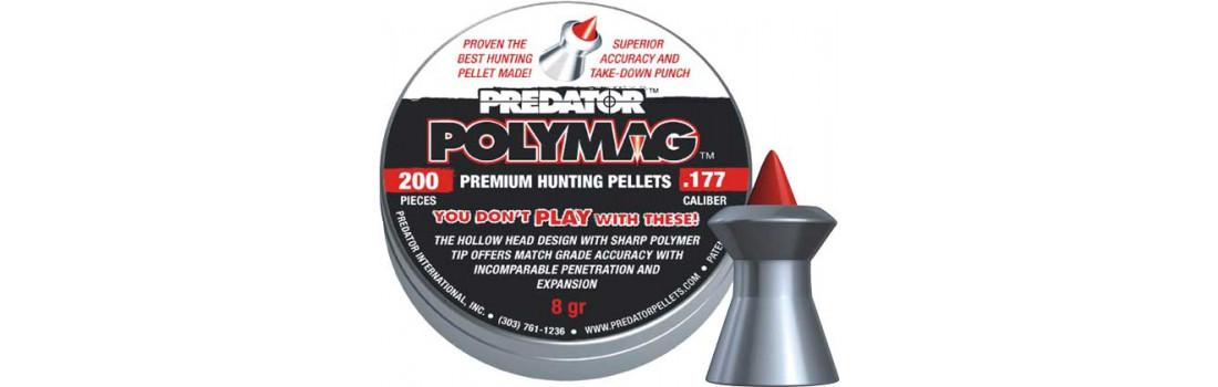 Пули пневматические JSB Diabolo Polymag. Кал. 4.5 мм. Вес - 0.52 г. 200 шт/уп