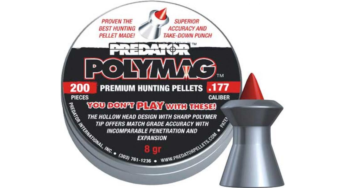 Кулі пневматичні JSB Diabolo Polymag. Кал. 5.5 мм. Вага - 1.03 г. 200 шт/уп