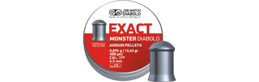 Пули пневматические JSB Diabolo Monster. Кал. 4.52 мм. Вес - 0.87 г. 400 шт/уп