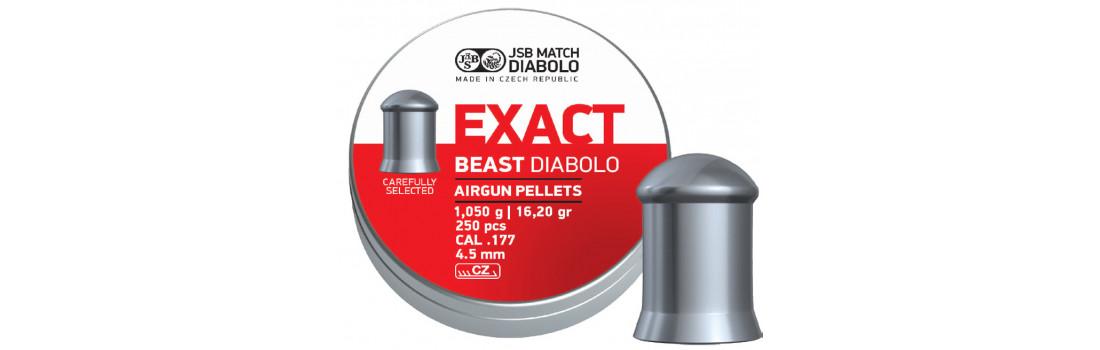 Кулі пневматичні JSB Diabolo Exact Beast. Кал. 4.52 мм. Вага - 1.05 г. 250 шт/уп