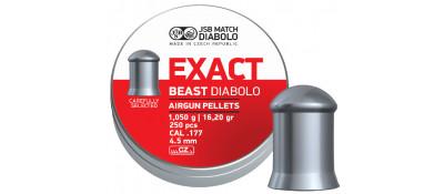 Пули пневматические JSB Diabolo Exact Beast. Кал. 4.52 мм. Вес - 1.05 г. 250 шт/уп