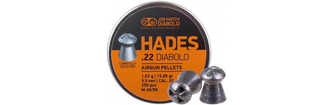 Кулі пневматичні JSB Hades. Кал. 5.5 мм. Вага - 1.03 р. 250 шт/уп