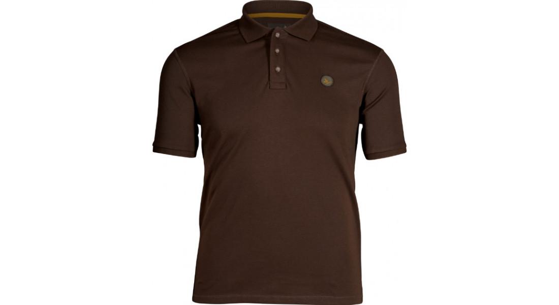 Теніска поло Seeland Skeet Polo Classic. Розмір - L. Колір - коричневий