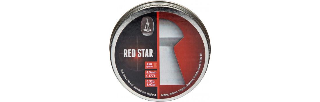 Пули пневматические BSA Red Star. Кал. 4.5 мм. Вес - 0.52 г. 450 шт/уп
