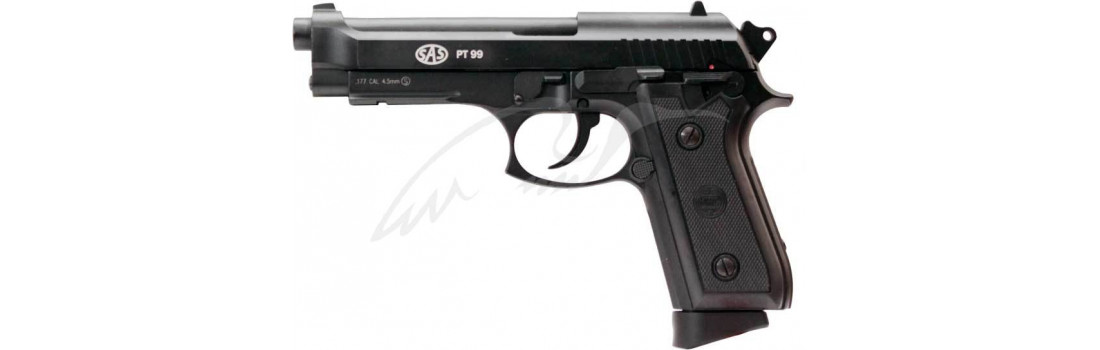 Пистолет пневматический SAS (Taurus PT99) Blowback. Корпус - металл