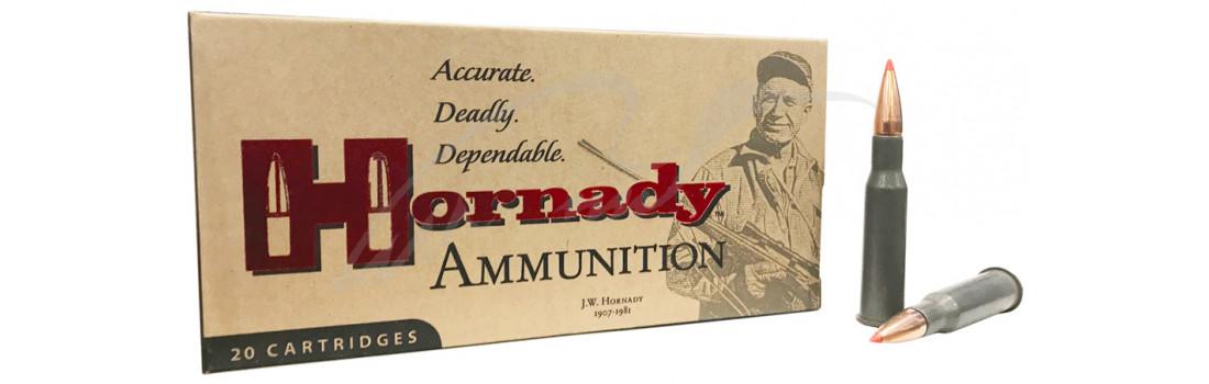 Патрон Hornady Custom International кал. 7.62х54 R пуля SST масса 150 гр (9.7 г). Стальная гильза