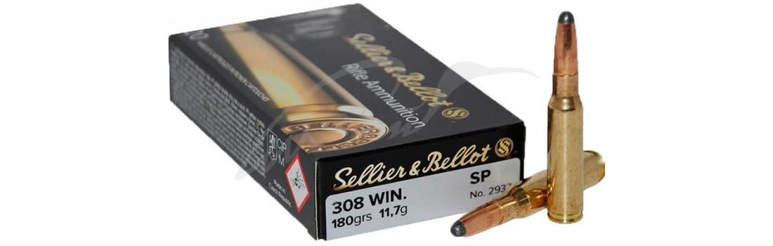 Патрон Sellier & Bellot кал. 308 Win пуля SP масса 11,7 грамм/ 180 гран. Нач. скорость 748 м/с.