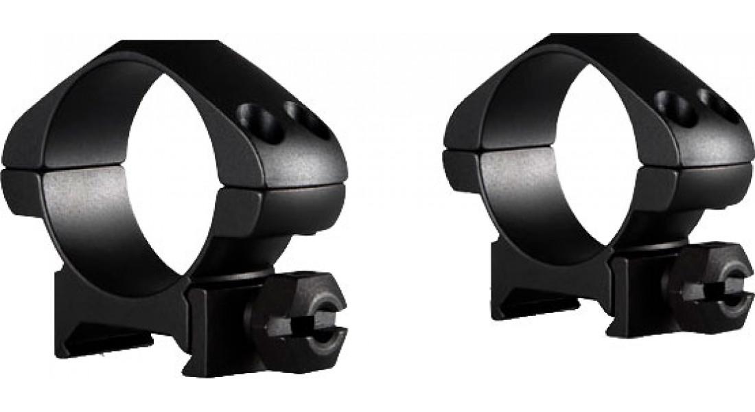 Кільця Hawke Precision Steel. d - 30 мм. Low. Weaver/Picatinny