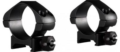 Кольца Hawke Precision Steel. d - 30 мм. Low. Weaver/Picatinny