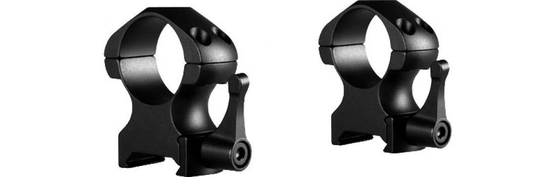 Кільця швидкознімні Hawke Precision Steel. d - 25.4 мм High. Weaver/Picatinny