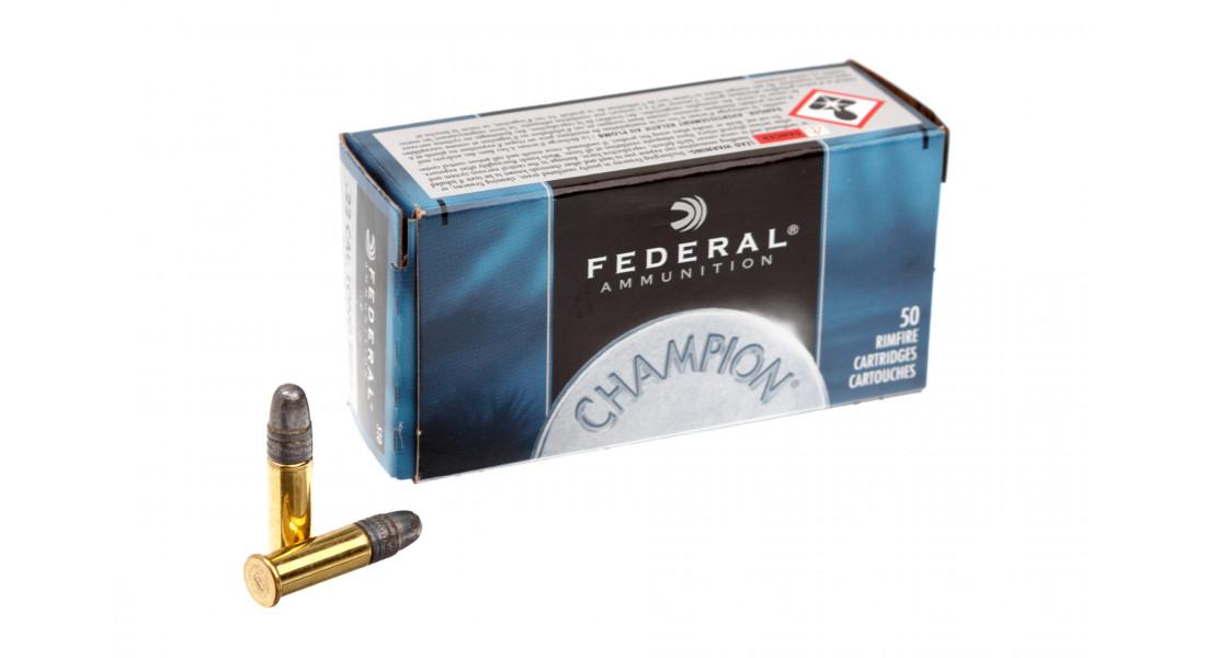 Патрон нарізний Federal Champion 22LR Solid 2,59г (40GR)