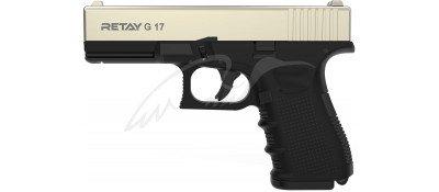 Пістолет стартовий Retay G17 кал. 9 мм. Колір - satin.