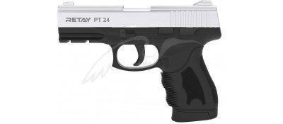 Пістолет стартовий Retay PT24 кал. 9 мм. Колір - nickel.