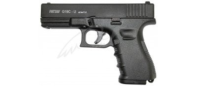 Пістолет стартовий Retay G 19C 14-зарядний кал. 9 мм. Колір - black.
