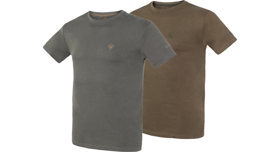 Комплект футболок Hallyard Jonas. Размер M. Зеленый/серый