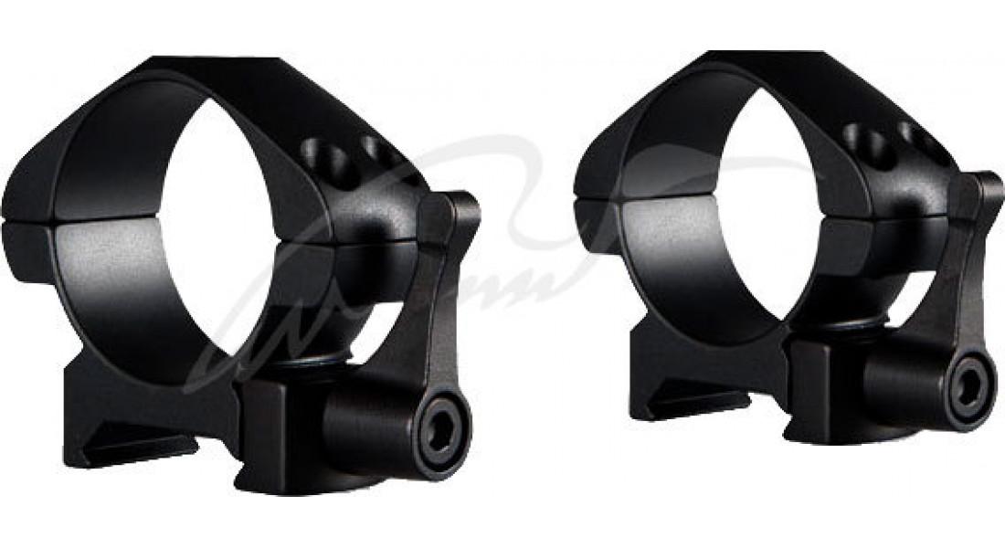 Кільця швидкознімні Hawke Precision Steel. d - 30 мм. Low. Weaver/Picatinny