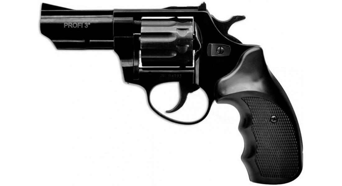 """Револьвер флобера ZBROIA PROFI-3"""" (чёрный / пластик)"""