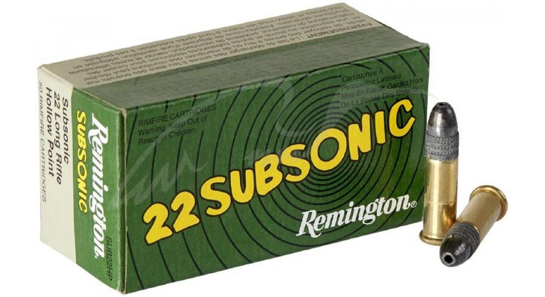 Патрон Remington Subsonic кал .22 LR пуля HP маса 38 гр (2.5 г)