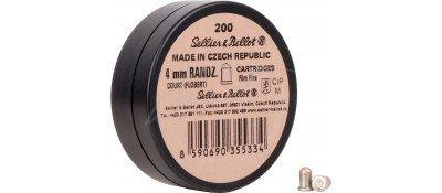Патрон Флобера Sellier & Bellot Randz Curte кал. 4 mm short пуля - свинцовий шарик плакирований міддю. Упаковка 200 шт.