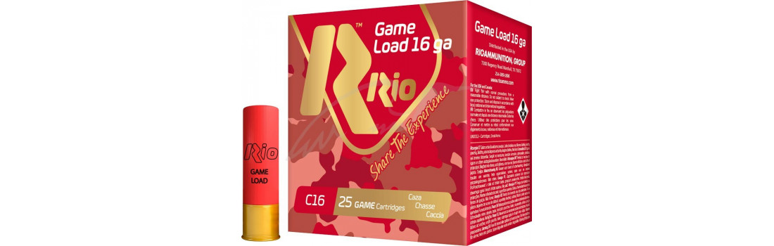 Патрон RIO Load Game C16 NEW (без контейнера) кал. 16/70 дріб №00 (4.5 мм) навеска 28 г